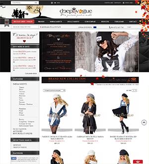 DeepInVogue.ro este un magazin virtual pe segmentul fashion, reprezentant al brandului Mexton. Magazinul DiV este dezvoltat pe platforma Shopernicus si de-a lungul timpului a suferit numeroase modificari estetice si functionale in scopul optimizarii experientei oferite clientului